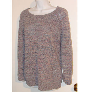 Pea in a pod knit marled pastel lilac sweater S